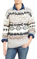 Current/Elliott 'The Boyfriend' Slouchy Fringe Detail Sweater