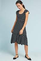 Maeve Gathered Polka Dot Dress