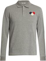 Moncler Logo-appliqué long-sleeved polo shirt