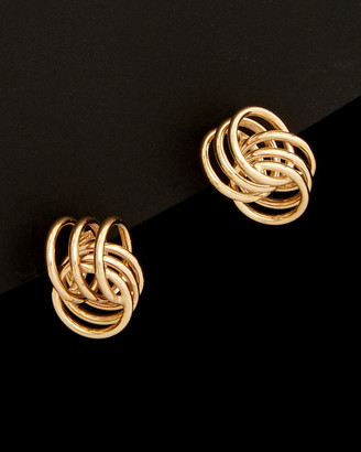 Italian Gold 14K Spiral Love Knot Earrings