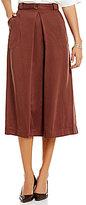 M.S.S.P. Tencel Twill Belted Midi Skirt