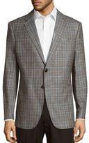 Giorgio Armani Wool-Blend Plaid Jacket