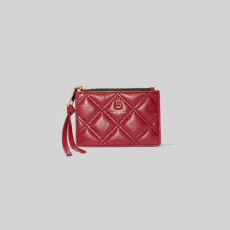 Marc Jacobs The Quilted Softshot Top Zip Multi Wallet
