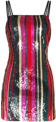HANEY Elektra sequin-stripe mini dress