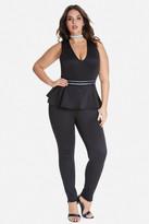 Fashion to Figure Mary Metallic Waist Peplum Jumpsuit