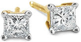 JCPenney FINE JEWELRY 1/3 CT. T.W. Princess Diamond Studs 14K Yellow Gold
