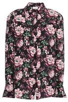 Magda Butrym Floral-print Silk Crepe De Chine Shirt