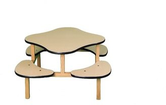 Harriet Bee Play Table in Maple Color: White