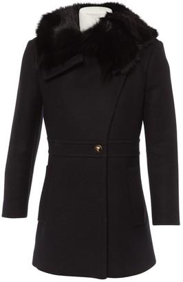 Roberto Cavalli Black Wool Coat for Women