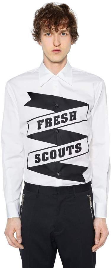 DSQUARED2 Fresh Scouts Printed Cotton Poplin Shirt
