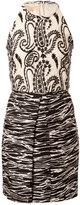 Giambattista Valli Silk-Linen Embroidered Dress