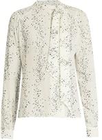 Tomas Maier Cosmic-print silk crepe de Chine blouse
