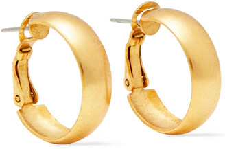 Elizabeth Cole 24-karat Gold And Hematite-plated Multi-stone Earrings