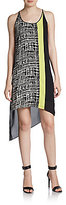 BCBGMAXAZRIA Printed Chiffon-Back Dress