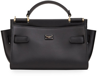 Dolce & Gabbana Multifunction Sicily 62 Leather Top-Handle Bag