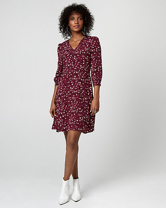 Le Château Floral Print Viscose V-Neck Tunic Dress