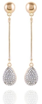 T Tahari Pave Fire Essential Linear Earring