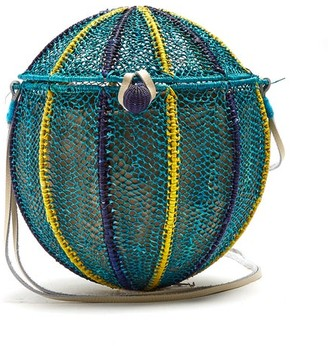 Sophie Anderson Meylin Woven-toquilla Cross-body Bag - Womens - Blue Multi