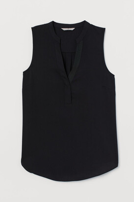 H&M V-neck Blouse - Black