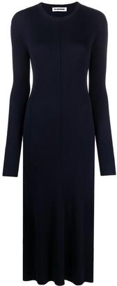 Jil Sander Ribbed-Knit Maxi Dress