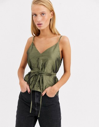 Asos crushed taffeta cami top