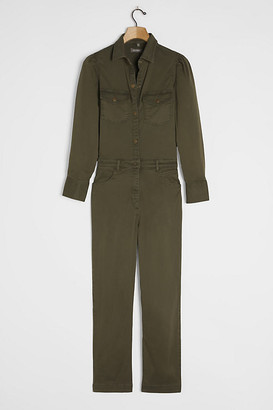 DL1961 Freja Utility Jumpsuit By DL1961 in Green Size S