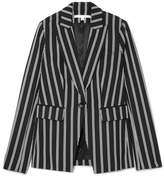 Veronica Beard Petra Striped Twill Blazer - Black