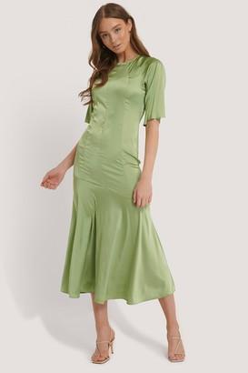 Glamorous Satin Shift Midi Dress