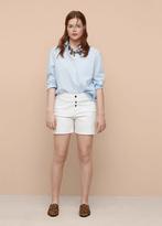 Violeta BY MANGO White Denim Shorts