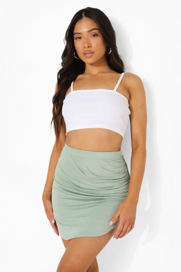 Thumbnail for your product : boohoo Petite Ruched Side Mini Skirt