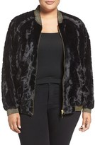 Melissa McCarthy Reversible Faux Fur Bomber Jacket (Plus Size)