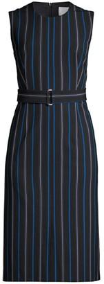 BOSS Daitala Sleeveless Stripe Stretch Dress