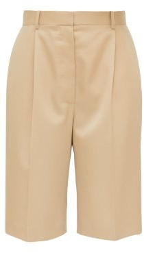 The Row Marco High-rise Twill Shorts - Beige