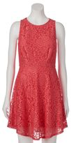 Speechless Juniors' Allover Lace Dress