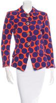 Christian Lacroix Polka Dot Print Button-Up Blazer