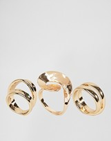 Asos Pack of 3 Abstract Swirl Rings