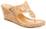 Jack Rogers Marbella Leather Whipstitch Wedge Sandals