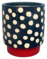 Threshold Blue Stoneware Hand-painted Pot