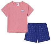 Petit Bateau Red Stripe and Boat Print short Pyjamas