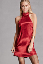 Forever 21 FOREVER 21+ Reverse Satin Shift Dress