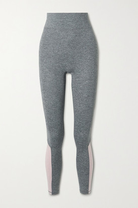 We Over Me Sunrise Cropped Color-block Stretch-jersey Leggings