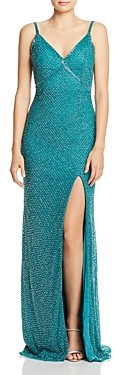 Mac Duggal Beaded Fishtail Gown
