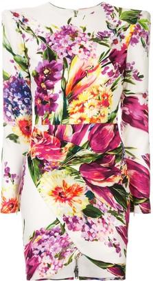 Alex Perry Anais floral print mini dress