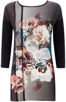 Floral Woven Tunic Top