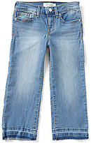 Jessica Simpson Big Girls 7-16 Released-Hem Crop Flare Jeans