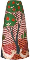 RED Valentino embroidered tree maxi skirt - women - Polyester - 40