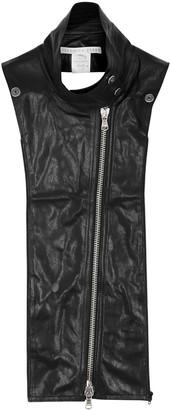 Veronica Beard Moto Black Leather Dickey