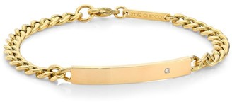 Chicco Zoë 14K Yellow Gold & Diamond Curb Chain ID Bracelet
