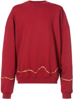 Haider Ackermann gold tone detail sweater - men - Cotton - XS