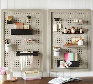 Pottery Barn Create Pegboard Metal Shelf